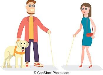 invalido, illustrazione, persone