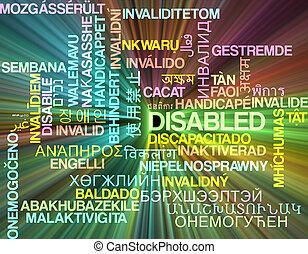 invalido, multilanguage, wordcloud, fondo, concetto, ardendo