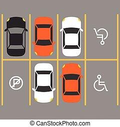 invalido, parcheggio, segno