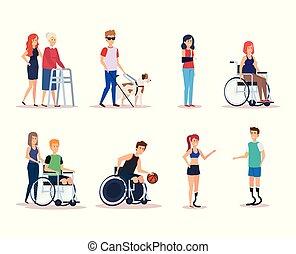 invalido, progetto serie, persone