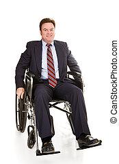 invalido, uomo affari, isolato