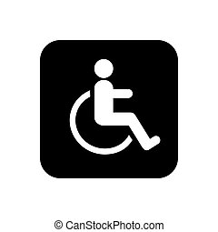 invalido, vettore, illustration., icona