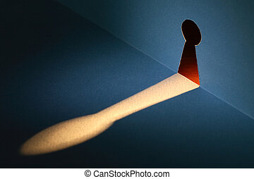 Invasion Of Privacy - Spying concept. Beam of light through...