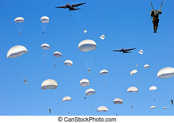 Paratroopers Dropping
