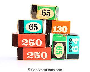 invecchiamento, imballaggio, film macchina fotografica