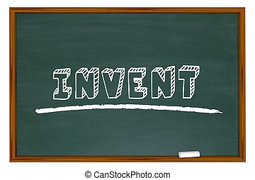 Invent Chalkboard Word Learn Invention School Education 3d Illustration
