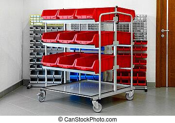 inventaire, étagères