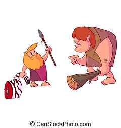 inventin, moderno, caveman, armi