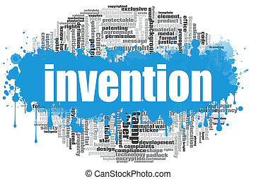 Invention word cloud