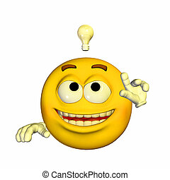 Inventor Emoticon - Illustration of an inventor emoticon ...