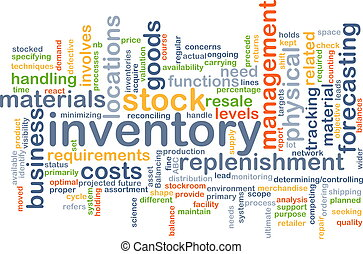 Inventory background concept - Background concept wordcloud...