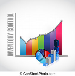 inventory control business graph sign concept