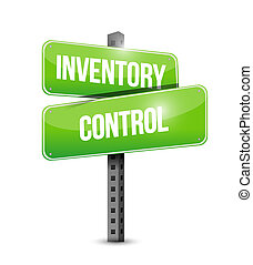 inventory control road sign concept illustration design over...
