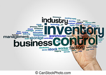 Inventory control word cloud