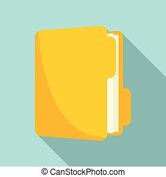 Inventory folder icon, flat style