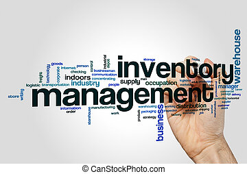 Inventory management word cloud