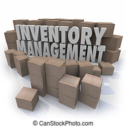Inventory Management Words Logistic Supply Chain Control...