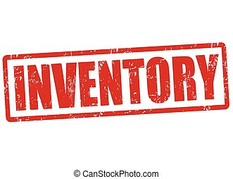 Inventory stamp - Inventory grunge rubber stamp on white,...