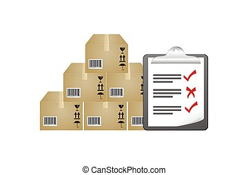 inventory stock reporting - suitable for illustrations or ...