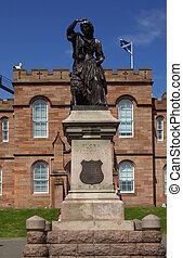 INVERNESS, SCOTLAND - June 08, 2013: Castle in Inverness