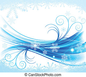 inverno, abstratos, fundo, floral