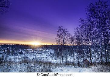 inverno, amanhecer