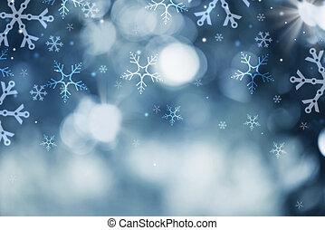 inverno, astratto, neve, fondo., vacanza, natale, fondale