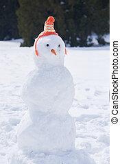 inverno, boneco neve