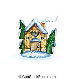 inverno, casa