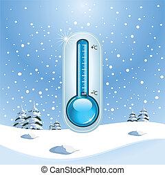 inverno, congelar, conceito