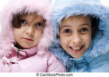 inverno, crianças