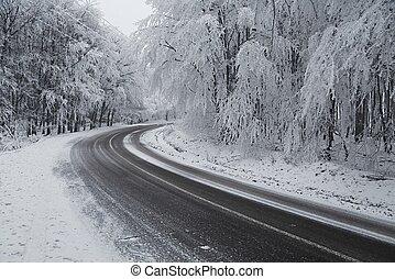 inverno, dirigindo