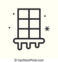 inverno, esboço, jogo, editable, veneziana janela,...