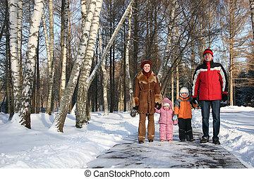 inverno, família