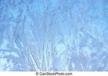 inverno finestra, frosted