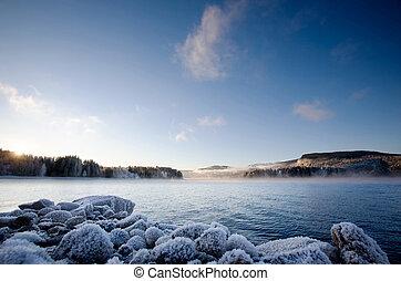 inverno, fiordo