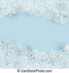 inverno, fondo, con, fiocchi neve
