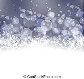 inverno, fondo, neve
