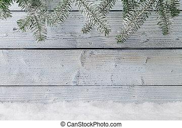 inverno, fondo, nevoso