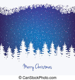 inverno, fundo, árvore, estrelas, e, neve