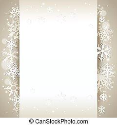 inverno, fundo, cartão