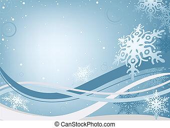 inverno, fundo, natal
