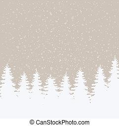 inverno, fundo, nevado