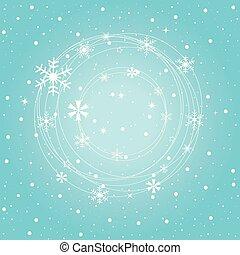 inverno, fundo, snowflakes, azul