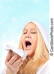inverno, gelado, e, gripe