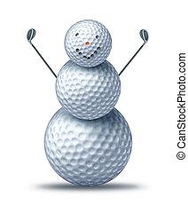 inverno, golfing