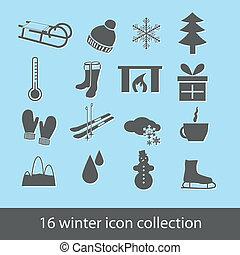 inverno, icone
