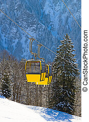 inverno, in, alpi