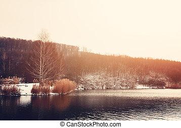 inverno, lago
