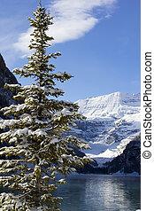 inverno, lago louise